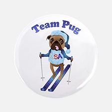 "Team Pug Skier - Olympugs 3.5"" Button"