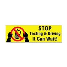 Stop Texting! It Can Wait! Car Magnet 10 X 3