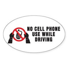 No Cell Phone Use Decal