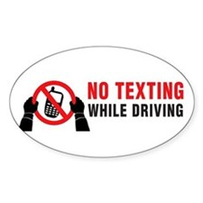No Texting While Driving! Decal