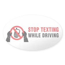 Stop Texting While Driving! Decal