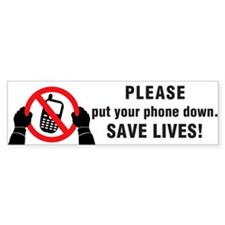 Put The Phone Down Car Sticker