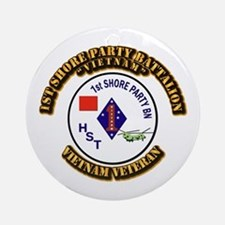 USMC - 1st Shore Party Battalion Ornament (Round)