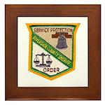 Riverside County Sheriff Framed Tile