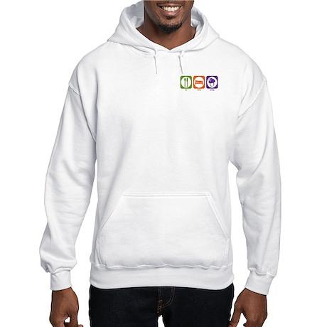 Eat Sleep Caving Hooded Sweatshirt