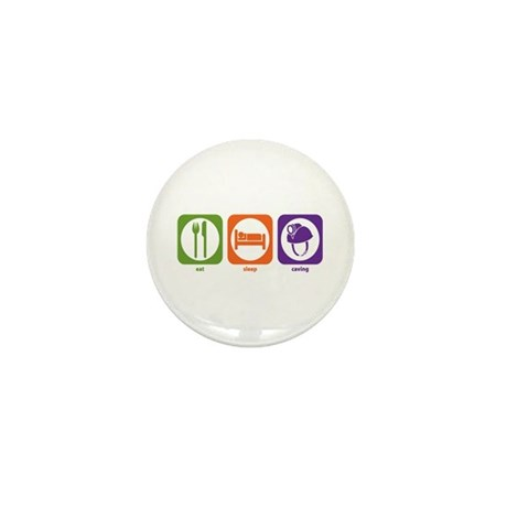 Eat Sleep Caving Mini Button (100 pack)