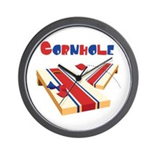 CORNHOLE Wall Clock
