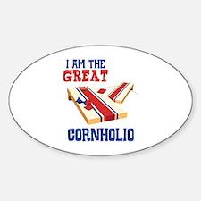I AM THE GREAT CORNHOLIO Decal