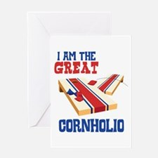 I AM THE GREAT CORNHOLIO Greeting Cards