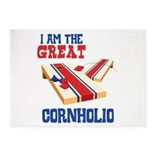 I AM THE GREAT CORNHOLIO 5'x7'Area Rug
