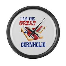 I AM THE GREAT CORNHOLIO Large Wall Clock