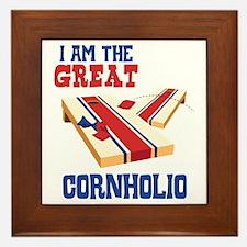 I AM THE GREAT CORNHOLIO Framed Tile