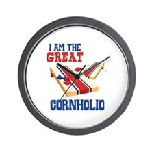 I AM THE GREAT CORNHOLIO Wall Clock