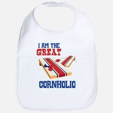 I AM THE GREAT CORNHOLIO Bib