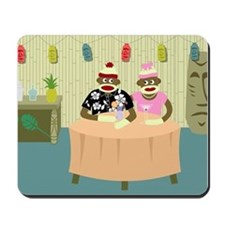 Sock Monkey Boy and Girl Love Mousepad
