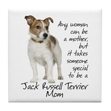 Jack Russell Mom Tile Coaster