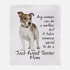 Jack Russell Mom Throw Blanket