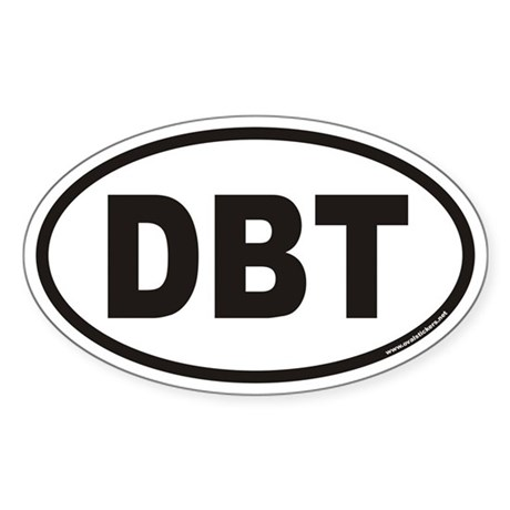 DBT Euro Oval Sticker