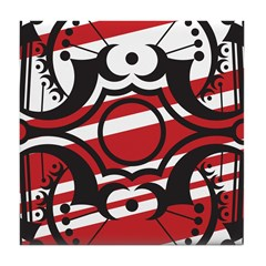 Red Crescent Tile Coaster