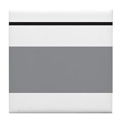 Black and White Stripe Tile Coaster