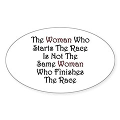 Woman - Race Oval Decal