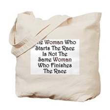 Woman - Race Tote Bag