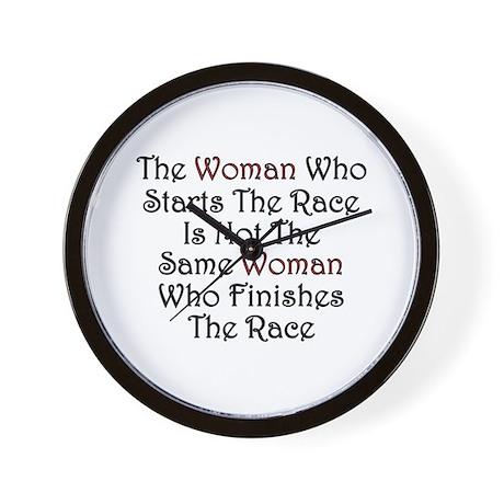 Woman - Race Wall Clock