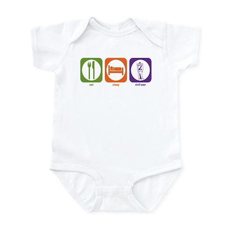 Eat Sleep Civil War Infant Bodysuit