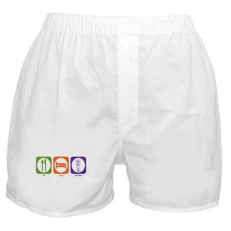 Eat Sleep Civil War Boxer Shorts