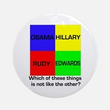 Democrat Which Things Game Ornament (Round)