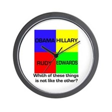 Democrat Which Things Game Wall Clock