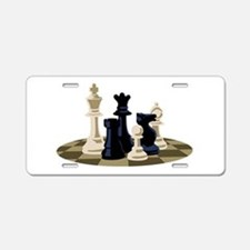 Chess Pieces Game Aluminum License Plate