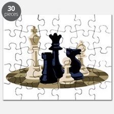 Chess Pieces Game Puzzle