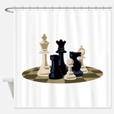 Chess Pieces Game Shower Curtain
