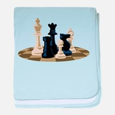 Chess Pieces Game baby blanket