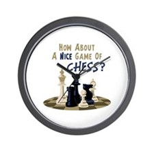 HOW ABOUT A NICE GAME OF CHESS? Wall Clock
