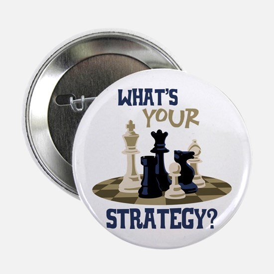 "WHATS YOUR STRATEGY? 2.25"" Button"