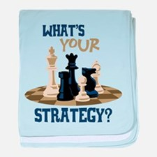 WHATS YOUR STRATEGY? baby blanket