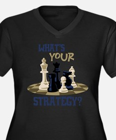 WHATS YOUR STRATEGY? Plus Size T-Shirt