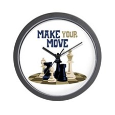 MAKE YOUR MOVE Wall Clock