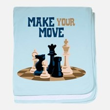 MAKE YOUR MOVE baby blanket