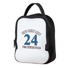 Cute 24 year old designs Neoprene Lunch Bag