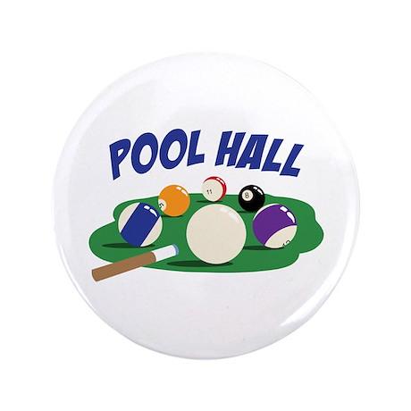 """POOL HALL 3.5"""" Button"""