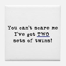 Can't Scare Two Sets Tile Coaster