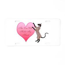 Valentine Cat Aluminum License Plate