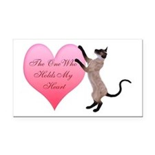 Valentine Cat Rectangle Car Magnet