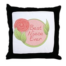Best Niece Ever-Rose Throw Pillow