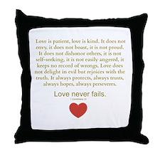 1 Corinthians 13 Throw Pillow