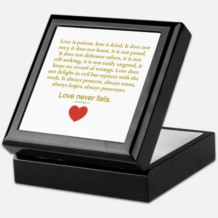 1 Corinthians 13 Keepsake Box
