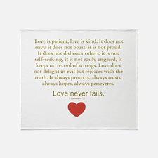 1 Corinthians 13 Throw Blanket